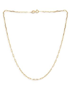 Aqua Sterling Paper Clip Necklace, 15.5 - 100% Exclusive