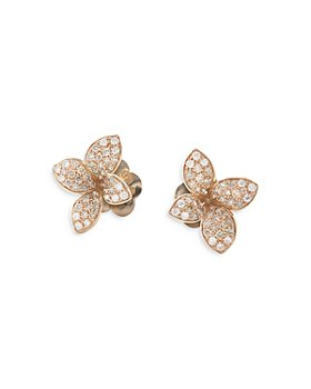 Pasquale Bruni - 18K Rose Gold Petit Garden White & Champagne Flower Stud Earrings