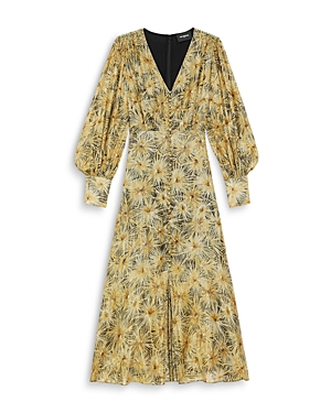The Kooples FLORAL PRINT MIDI DRESS