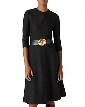 St. John - Ottoman Belted Sweater Dress
