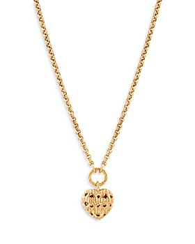 "JOHN HARDY - 18K Yellow Gold Classic Chain Heart Pendant Necklace, 16-18"""