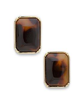 Ralph Lauren - Rectangular Button Earrings