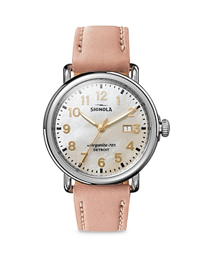Shinola RUNWELL MOTHER-OF-PEARL DIAL WATCH, 41MM