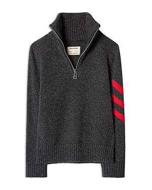 Zadig & Voltaire Boys\\\' Tim Wool Blend Quarter Zip Sweater - Little Kid, Big Kid-Kids