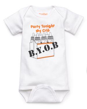 Sara Kety Unisex Party in My Crib Byob Bodysuit - Baby