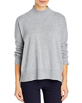 Eileen Fisher - Mock Neck Cashmere Pullover Sweater