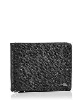 BOSS Hugo Boss - Signature Leather Bi Fold Money Clip Wallet
