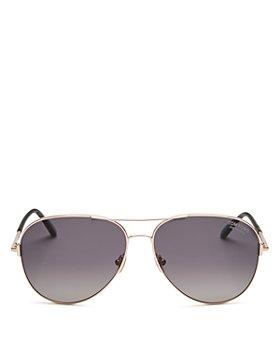 Tom Ford - Unisex Clark Polarized Brow Bar Aviator Sunglasses, 61mm