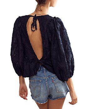 Free People - Callie Textured Open Back Top