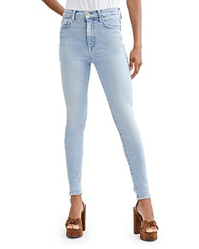 7 For All Mankind - High Waisted Skinny Jeans in Las Palmas Stretch