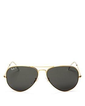 Ray-Ban - Unisex Polarized Brow Bar Aviator Sunglasses