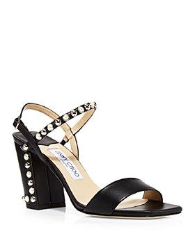 Jimmy Choo - Women's Aadra 85 High Heel Stud & Imitation Pearl Embellished Sandals