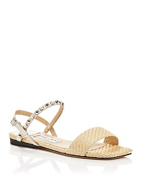 Jimmy Choo - Women's Aadra Stud & Imitation Pearl Embellished Espadrille Flat Sandals
