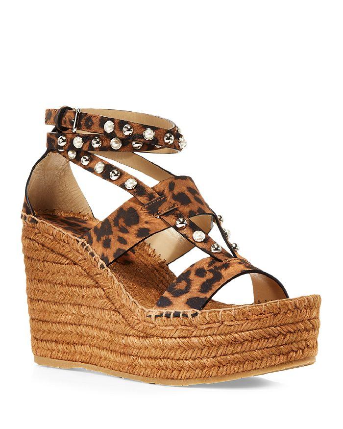Jimmy Choo - Women's Danica 110 Embellished Wedge Platform Espadrille Sandals