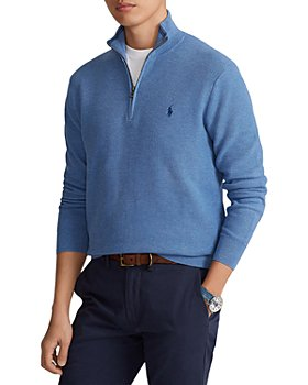 Polo Ralph Lauren - Regular Fit Cotton Mesh Quarter Zip Pullover