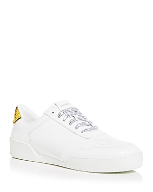 Versace Leathers MEN'S ILUS LOW TOP SNEAKERS