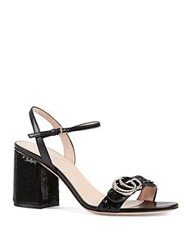 Gucci - Women's Marmont Mid-Heel Sequin Sandals