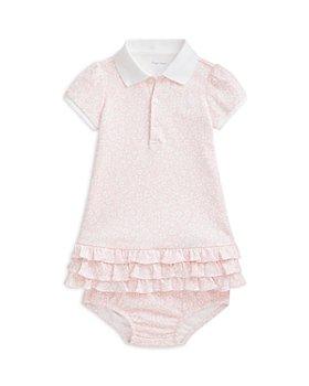 Ralph Lauren - Girls' Floral Print Ruffled Hem Dress - Baby