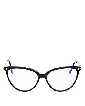 Tom Ford - Women's Cat Eye Blue Light Glasses, 55mm