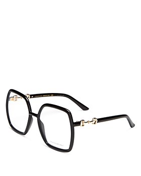 Gucci - Women's Geometric Clear Glasses, 55m