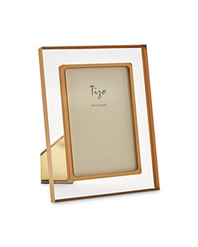 """Tizo - Lucite Bordered Easel Back 8"""" x 10"""" Picture Frame"""