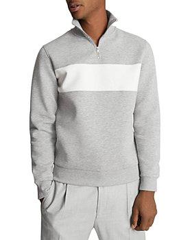 REISS - Sebastian Contrast Half Zip Sweater