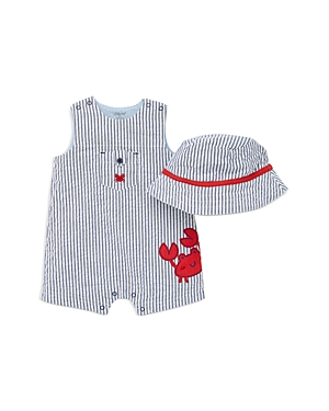 Little Me Sets BOYS' CRAB EMBROIDERED BODYSUIT & HAT SET - BABY