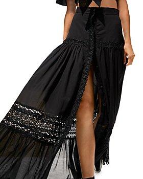 Charo Ruiz Ibiza - Ann Crochet Trim Maxi Skirt