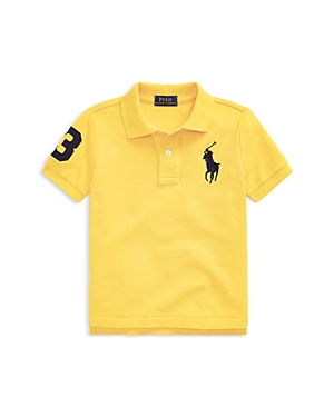 Ralph Lauren POLO RALPH LAUREN BOYS' HEATHERED COTTON POLO SHIRT - LITTLE KID