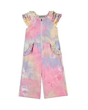 Pippa & Julie GIRLS' TIE DYE RUFFLE JUMPSUIT - LITTLE KID