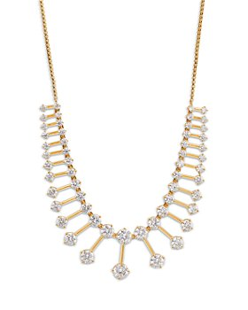 Nadri - Leah Graduated Bar Statement Necklace, 18""