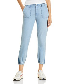 PAIGE - Mayslie Cropped Denim Jogger Pants