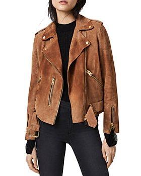 ALLSAINTS - Balfern Suede Moto Jacket