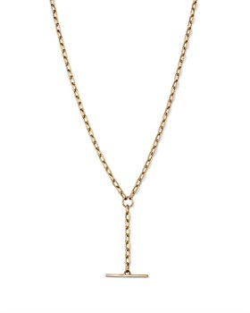 Zoë Chicco - 14K Yellow Toggle Y Necklace, 18""