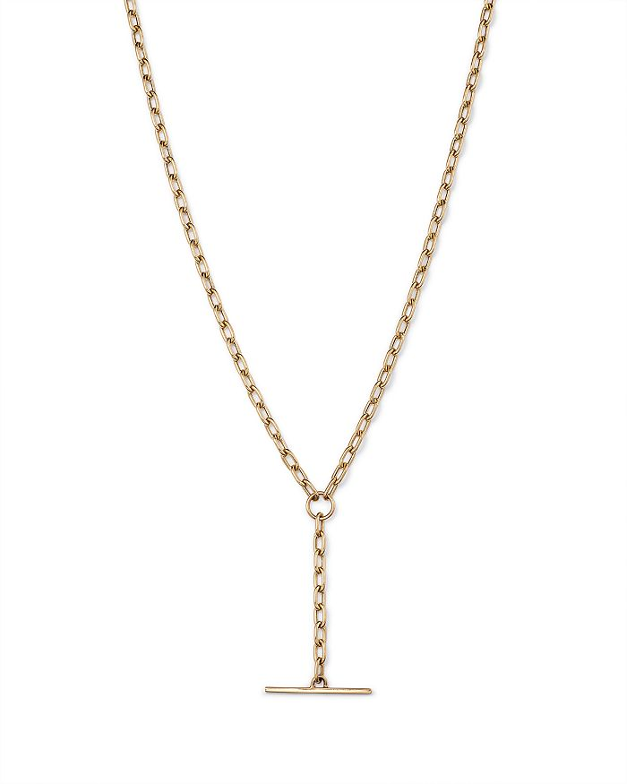 Zoë Chicco 14k Yellow Toggle Y Necklace, 18 In Gold