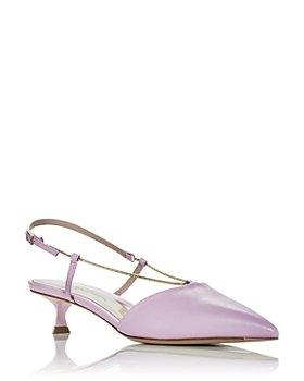Giorgio Armani - Women's Decollette Slingback Kitten Heel Pumps
