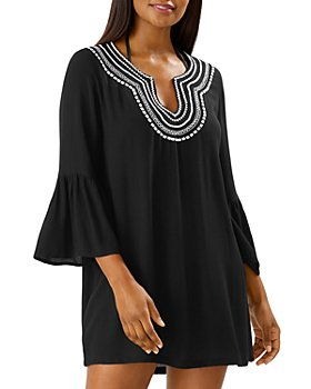 Tommy Bahama - Embroidered Crinkle Tunic - 100% Exclusive