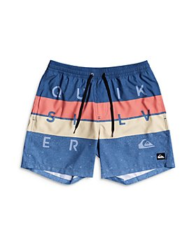 Quiksilver - Boys' Word Block Volley Swim Trunks - Little Kid, Big Kid