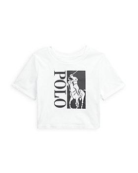 Ralph Lauren - Girls' Cropped Logo Tee - Big Kid