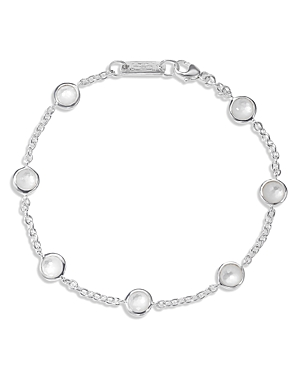Ippolita STERLING SILVER LOLLIPOP 7-STONE STATION BRACELET IN MOTHER-OF-PEARL