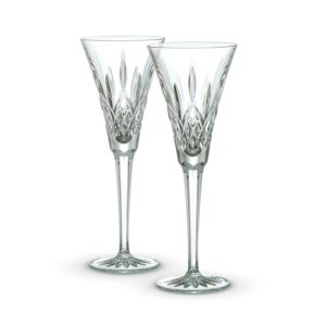 Waterford Lismore Champagne Flutes, Set of 2