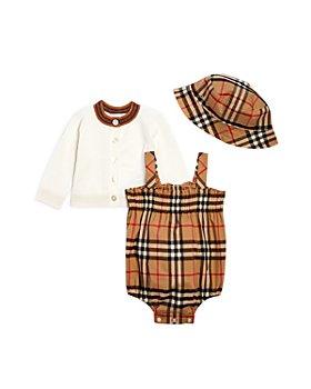 Burberry - Unisex Julie Cardigan, Romper & Hat Set - Baby