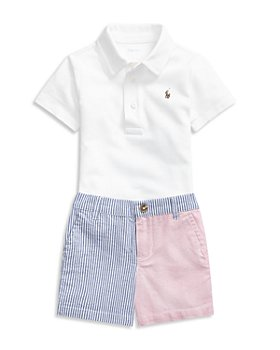 Ralph Lauren - Boys' Polo Shirt & Seersucker Shorts Set - Baby