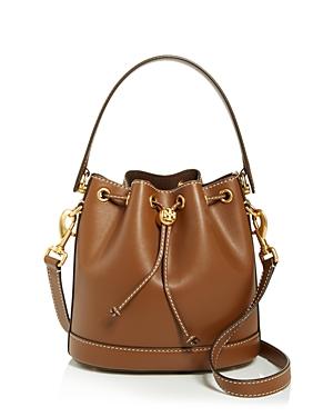 Tory Burch T Monogram Small Leather Bucket Bag