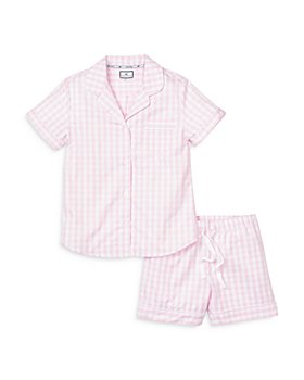 Petite Plume - Gingham Cotton Pajama Shorts Set
