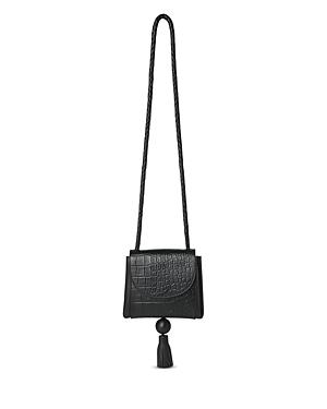Whistles Arden Croc-Embossed Tassel Crossbody Bag
