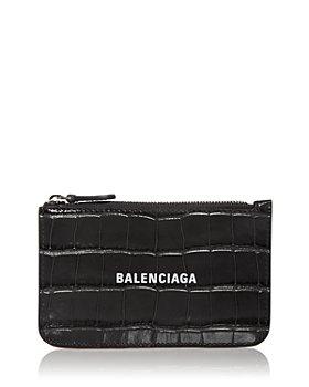 Balenciaga - Embossed Leather Mini Card Case