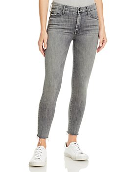 MOTHER - Looker Ankle Fray Skinny Jeans in All Nighter