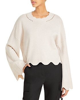 3.1 Phillip Lim - Scalloped Trim Crewneck Sweater