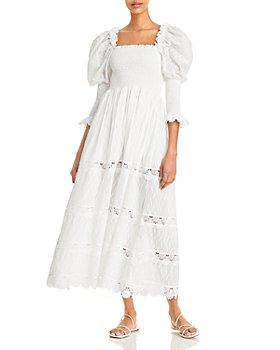Waimari - Bianche Embroidered Smocked Dress
